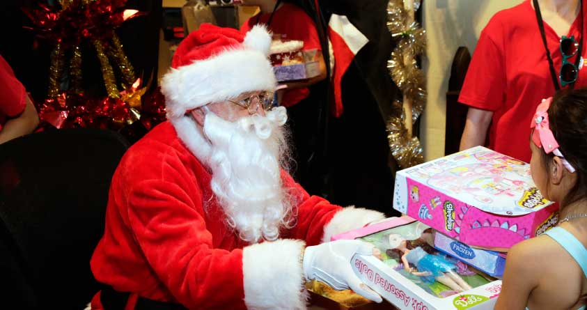 Santa has gifts for ​the most needy kids