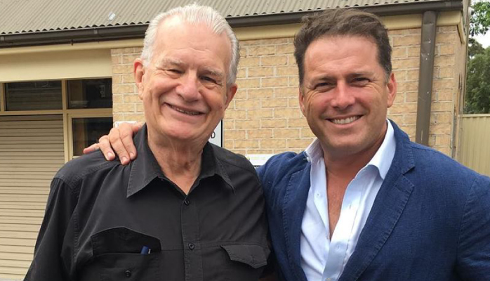 Rev. Bill Crews and Karl Stefanovic
